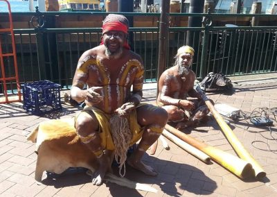 Aboriginal Buskers and their Didgeridoos