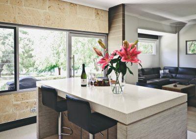 Losari Retreat Garden Spa Villa Kitchen to Lounge