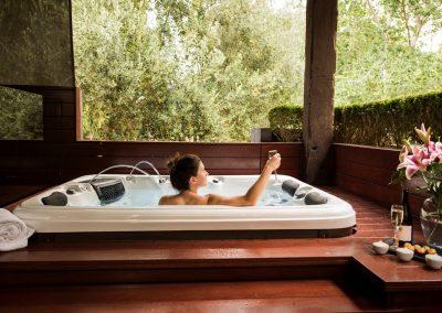 Losari Retreat Relaxing in the Garden Spa Villa